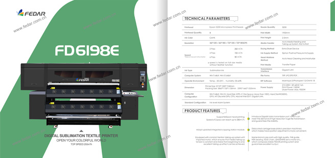 Fedar FD6198E Sublimation Printer